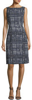 Escada Weave-Print Sleeveless A-Line Dress