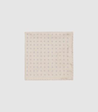Reiss Rossi - Silk Pocket Square in Stone