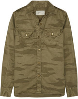 Current/Elliott The Perfect Camouflage-print Cotton-twill Shirt - Army green