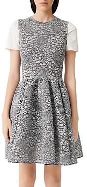 Maje Reinatta Jacquard A-Line Dress
