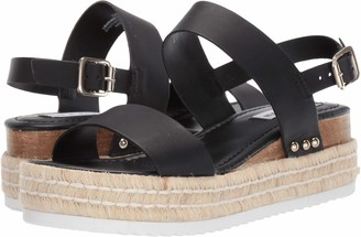 Steve Madden Catia Wedge Sandal Natural Leather 6.5