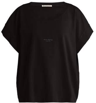 Acne Studios Tohnek Boat-neck Cotton T-shirt - Womens - Black