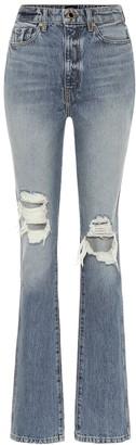 KHAITE Daria high-rise distressed jeans