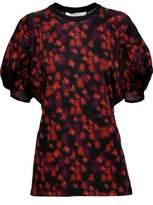 Givenchy Floral-Print Satin Top