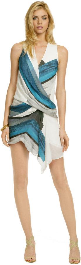 Helmut Lang Blue Sea Tetra Dress