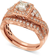 Macy's Diamond Milgrain Bridal Set (1 ct. t.w.) in 14k Rose Gold