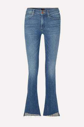 Mother The Runaway Frayed Mid-rise Flared Jeans - Mid denim