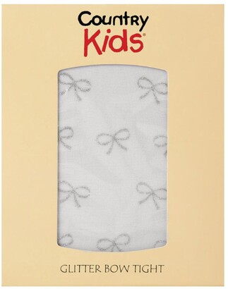 Country Kids Lurex Bow Tights
