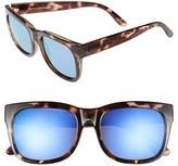 Le Specs Women's 'Captain Courageous' 53Mm Sunglasses - Coal Tortoise/ Purple Mirror
