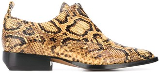 Chloé Python Print Leather Loafers