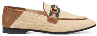Gucci Canvas Brixton Loafers