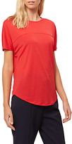 Jaeger Curved Hem Jersey T-Shirt, Bright Red