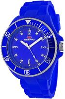 Seapro SP7414 Women's Sea Bubble Blue Silicone Watch with Crystal Accents