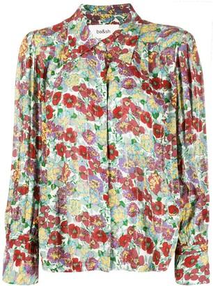 BA&SH Phara pointed collar floral shirt