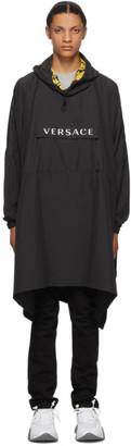 Versace Underwear Black Pullover Rain Coat