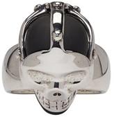 Alexander McQueen Silver Dominatrix Skull Ring