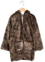 Lili Gaufrette Girls' Faux Fur Reversible Coat