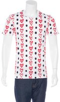 Dolce & Gabbana Heart Dot Print T-shirt w/ Tags