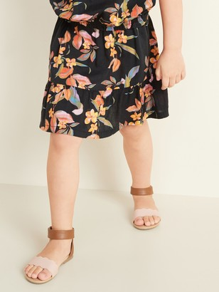 Old Navy Tiered Printed Skirt for Toddler Girls