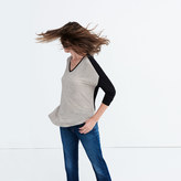 Madewell Anthem Long-Sleeve V-Neck Tee in Colorblock