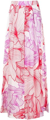 Malo Floral Print Palazzo Trousers