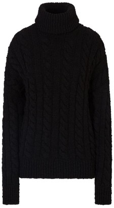 Dolce & Gabbana Rollneck Cable-Knit Sweater