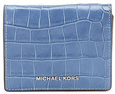 MICHAEL Michael Kors Mercer Crocodile-Embossed Flap Card Holder