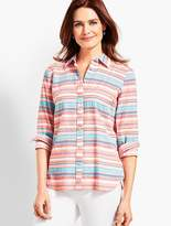 Talbots The Classic Casual Shirt - Sunset Stripe