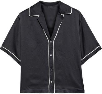 ATM Anthony Thomas Melillo Hammered Silk-satin Shirt