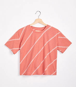 Lou & Grey Stripe Cropped Softserve Slub Tee