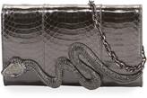 Judith Leiber Couture Serpent Snakeskin Clutch Bag