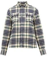A.P.C. Checked Cotton-blend Flannel Shirt - Womens - Black Multi