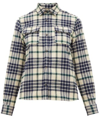 A.P.C. Checked Cotton-blend Flannel Shirt - Womens - Black Multi