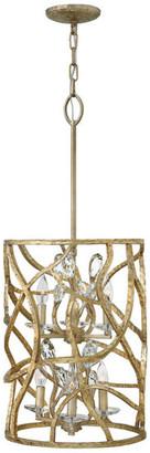 Fredrick Ramond Eve 6 Light Foyer Pendant in Champagne Gold