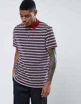 Asos Relaxed Polo Shirt In Towelling With Retro Stripes