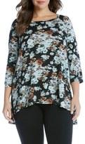 Karen Kane Plus Size Women's Floral High/low Top