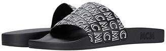 MCM Logo Group Slide Sandal (Black) Men's Shoes