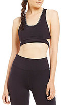 Free People Bra Stitch In Time Embroidered Sports Bra
