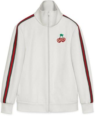 Gucci Piquet jersey zip-up jacket