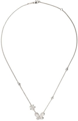 David Morris 18kt white gold diamond Pixie pendant necklace