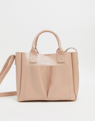 Claudia Canova Unlined Small Double Pocket Grab Bag-Pink