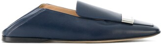 Sergio Rossi Slip-On Logo Plaque Loafers