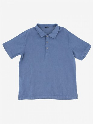 Il Gufo Short-sleeved Linen Polo Shirt