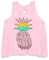 Flowers by Zoe Little Girl's Pineapple Printed Tank Top