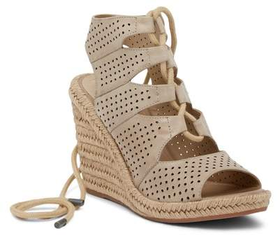 Johnston & Murphy Mandy Perforated Wedge Sandal