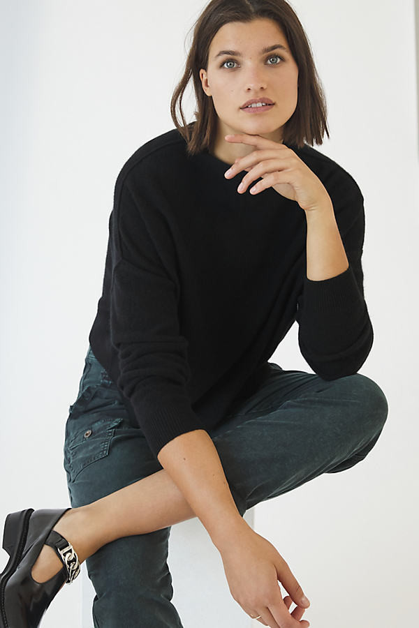 Anthropologie Alani Cashmere Mock Neck Sweater By in Black Size XXS