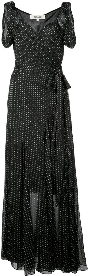 Diane von Furstenberg Belinda crinkled wrap dress
