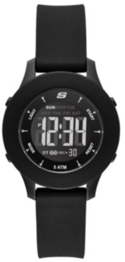 Skechers Women's Rosencrans Digital Silicone Strap Watch 37mm