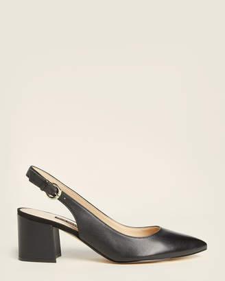 Nine West Black Tulip Slingback Leather Pumps