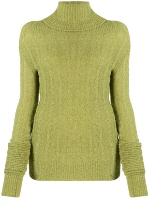 Jacquemus Sofia ribbed roll-neck jumper